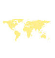 global world map made with happy smiles isolated vector image