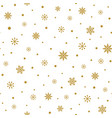 gold snowflakes on white background christmas vector image vector image