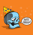 greeting card with skull vector image vector image