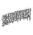 halloween typography silhouette vector image vector image