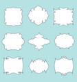 hand drawn vintage styled frames labels set of vector image vector image