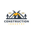 home building logo design vector image vector image