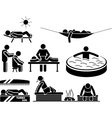 ICON MEN IN RELAX vector image