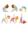Kids Doing Simple Yoga Poses vector image vector image