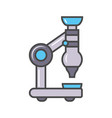 laboratory microscope linear icon vector image vector image