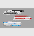 lower third banner template in different styles vector image vector image