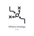 military strategy graphic outline icon isolated vector image vector image