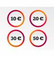 money in euro icons ten twenty fifty eur