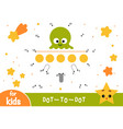 numbers game dot to dot game for children ufo in vector image vector image
