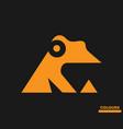orange frog vector image