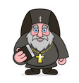 orthodox priest with bible and cross on neck vector image