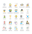 project management icons set in flat desig vector image vector image