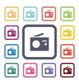 radio flat icons set vector image vector image