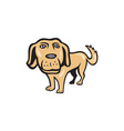 Retriever Dog Big Head Isolated Cartoon vector image vector image