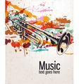 Retro splatter music background vector image