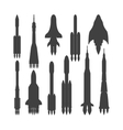 Rocket black silhouette icon isolated vector image vector image