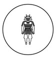 samurai japan warrior icon in circle outline vector image vector image