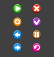 set isolated buttons for game vector image vector image