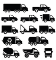 Set of truck icons vector image vector image