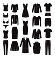 set of women and man clothes icons vector image vector image