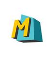 sign letter m vector image