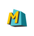 sign of the letter m vector image vector image