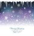 snowy blue background vector image vector image
