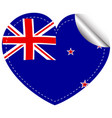 sticker design for new zealand flag vector image vector image