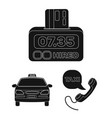 taxi service black icons in set collection for vector image vector image