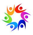 teamwork colorful diverse people logo