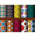 ten seamless patterns vector image