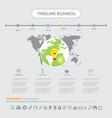 time line infographics design template icons set vector image vector image
