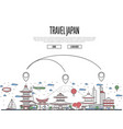 travel japan poster in linear style vector image