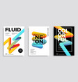 trendy design templates with 3d flow shapes vector image vector image