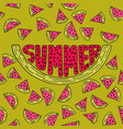 unique lettering poster with a word summer vector image vector image