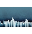 urban landscape skyscrapers in a big city vector image vector image