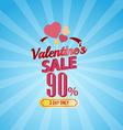 valentines day sale 90 Percent typographic vector image