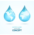 Water Globe Save Concept vector image vector image