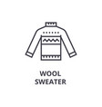 wool sweater line icon outline sign linear vector image vector image