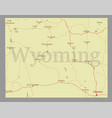 wyoming state map with community assistance vector image