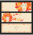 beauty hair face woman silhouette vector image