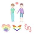hands feminism fingerprints gay set collection vector image