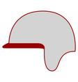 isolated motorcycle helmet vector image