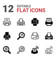 12 printer icons vector image vector image