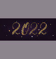 2022 handwriting numbers with golden dust vector image vector image