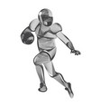 abstract american football or rugplayer male vector image vector image