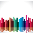 abstract colorful city stock vector image vector image