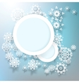 Abstract design snowflakes with copy space EPS 10 vector image