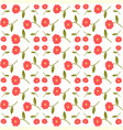 abstract seamless floral pattern print vector image vector image