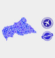 airflight composition central african vector image vector image
